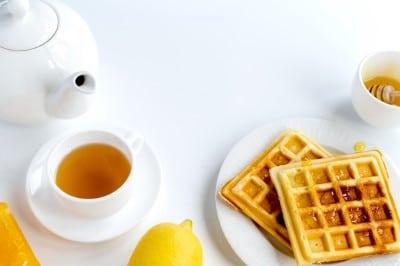 Fluffy lemon waffles - Webshealth